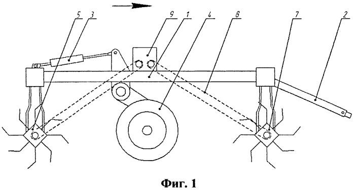 Ротационное почвообрабатывающее орудие для борьбы с сорняками