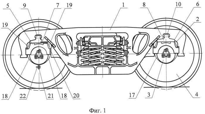 Износостойкая сменная прокладка боковой рамы тележки грузового вагона