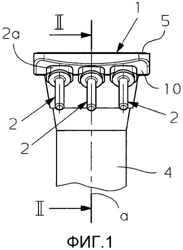 Прижимное устройство для разливочной трубы на выпуске металлургической емкости