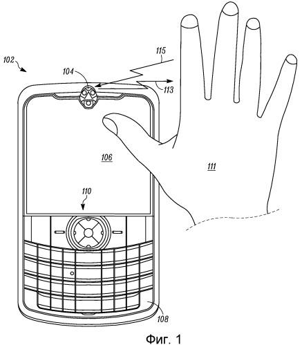 Электронное устройство с узлом восприятия и способ интерпретации смещенных жестов