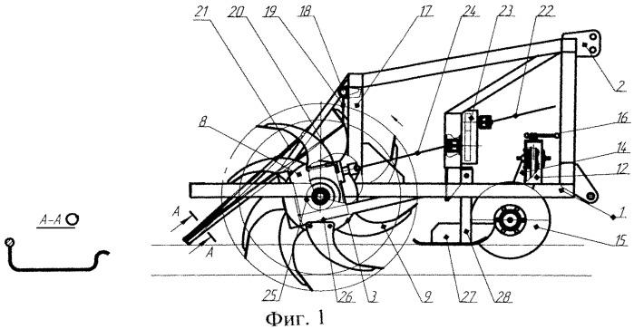 Роторный вычесыватель-глубокорыхлитель