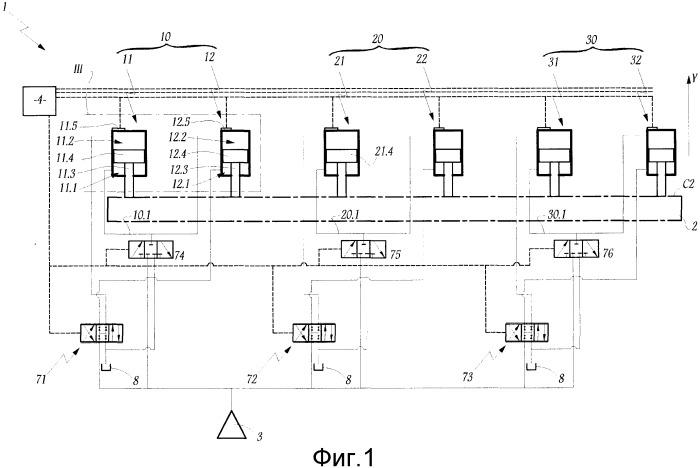 Устройство для управления движением цилиндрического затвора гидравлической машины и гидравлическая машина, содержащая такое устройство