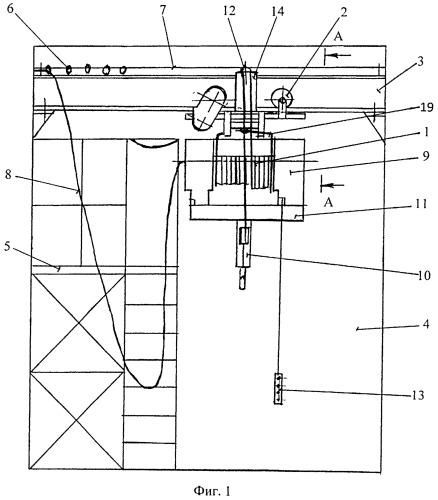 Способ и устройство для демонтажа тали электрической канатной