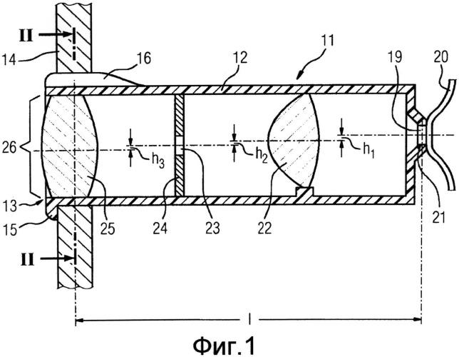 Оптический элемент отображения, а также устройство отображения
