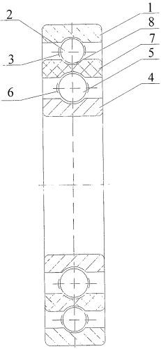 Подшипниковое устройство преимущественно для асинхронного электродвигателя с горизонтальным расположением оси