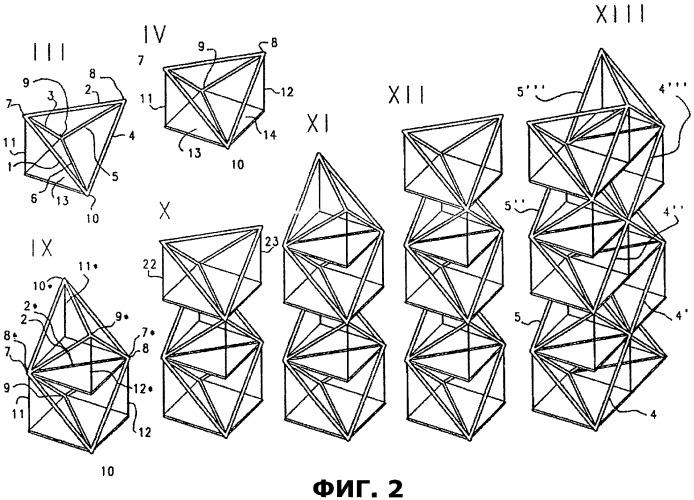 Сетчатый объемный модуль для строительства зданий и способ строительства
