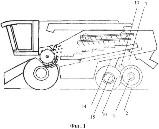 Устройство для позиционного регулирования и снижения давления на грунт системы управления - управляемого моста колесного зерноуборочного комбайна