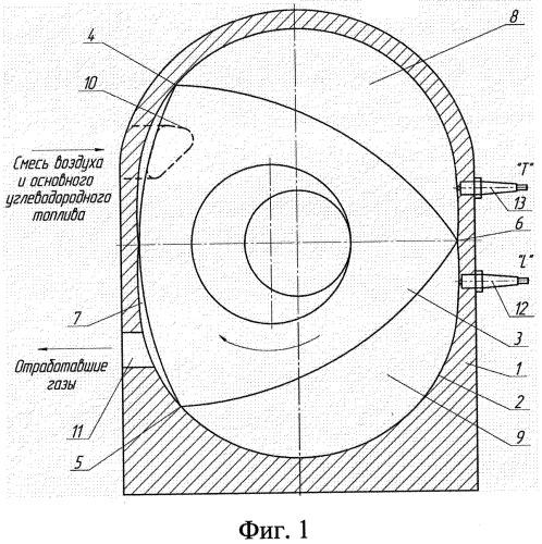 Способ работы роторно-поршневого двигателя внутреннего сгорания