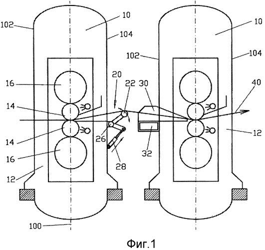Прокатный стан для изготовления металлической полосы и способ изготовления прокатного стана