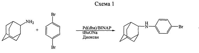 Способ получения n-(4-бромфенил)-n-(2-адамантил)амина (бромантана)