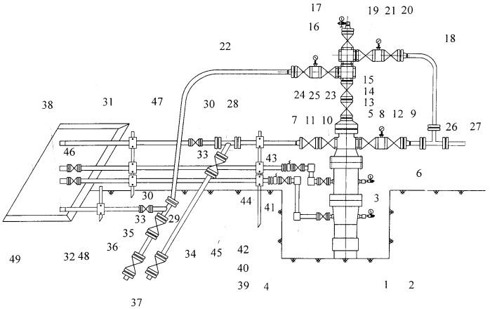 Устьевая обвязка высокодебитной нефтяной скважины с межколонными газопроявлениями