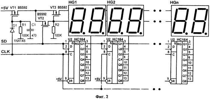 Последовательный интерфейс управления многоразрядным знакосинтезирующим индикатором