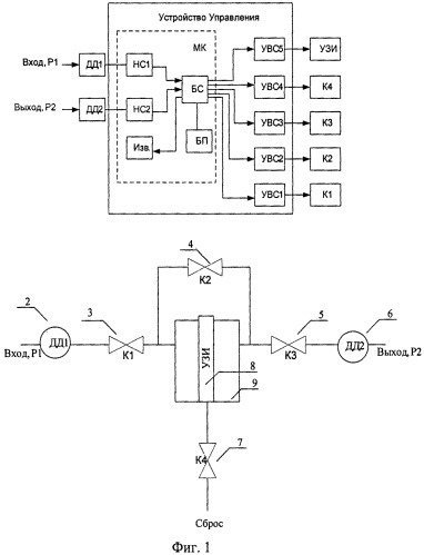 Устройство управления процессом очистки фильтровального элемента