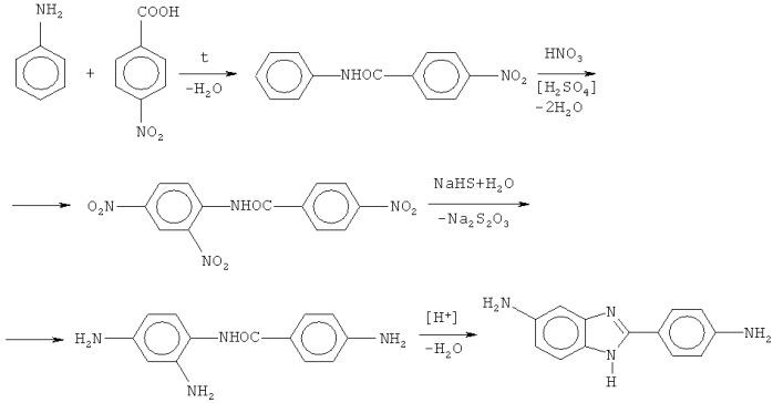 Способ получения 5(6)-амино-2-(4-аминофенил)бензимидазола из 2,4,4-тринитробензанилида
