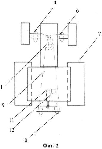 Корректор осевой нагрузки неполноприводного колесного трактора типа мтз