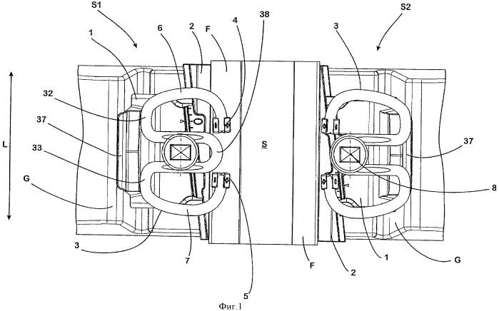 Комплект из направляющей пластины и клинового элемента, а также система для крепления рельса для рельсового транспортного средства к нижнему строению пути