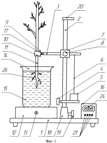 Устройство для определения геометрических параметров растений