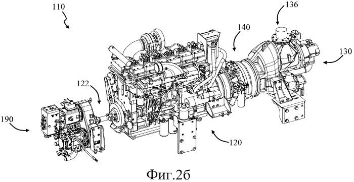 Буровая установка с силовым агрегатом, содержащим муфту (варианты)