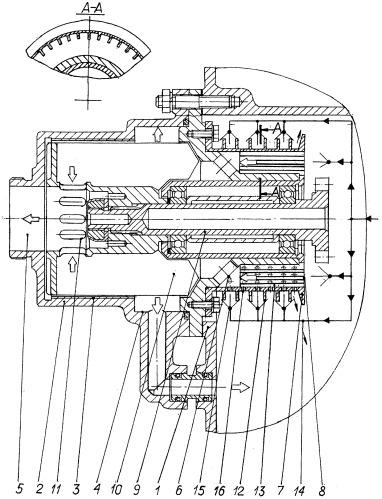 Приводной центробежный суфлер для высокотемпературного газотурбинного двигателя