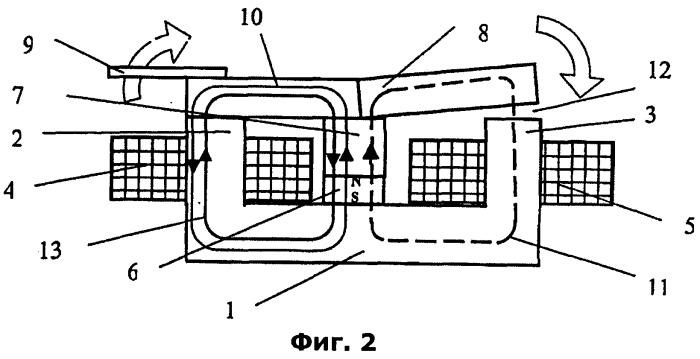 Бистабильный электромагнитный привод