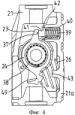 Исполнительный механизм с нажимной штангой для компактных модулей с суппортом дискового тормозного механизма с установочным рычагом, который выполнен с возможностью упора в эластичный упор