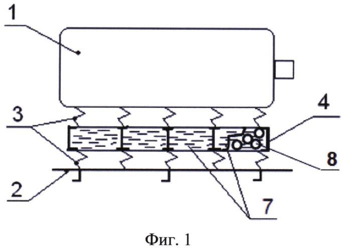 Способ двухкаскадной амортизации опорных конструкций машин