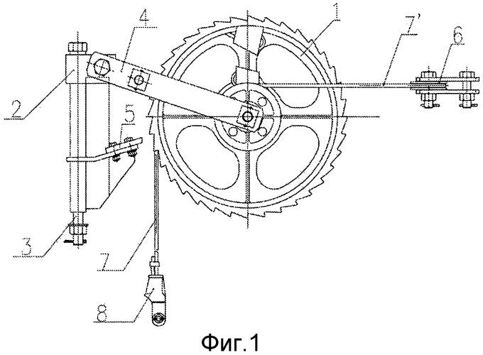 Компенсационное устройство храпового колеса