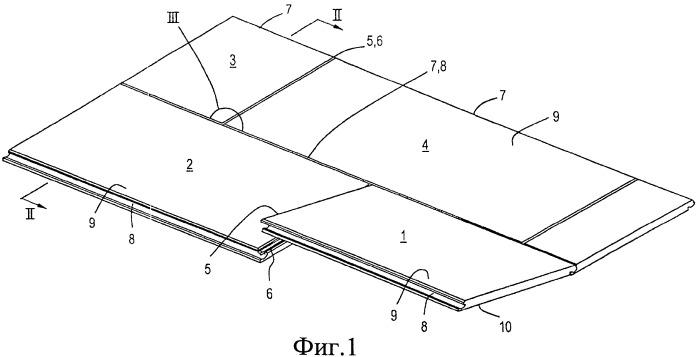 Блок напольных панелей и использующаяся в нем напольная панель