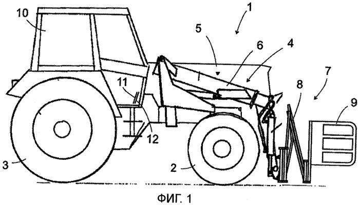 Транспортное средство с подъемным оборудованием
