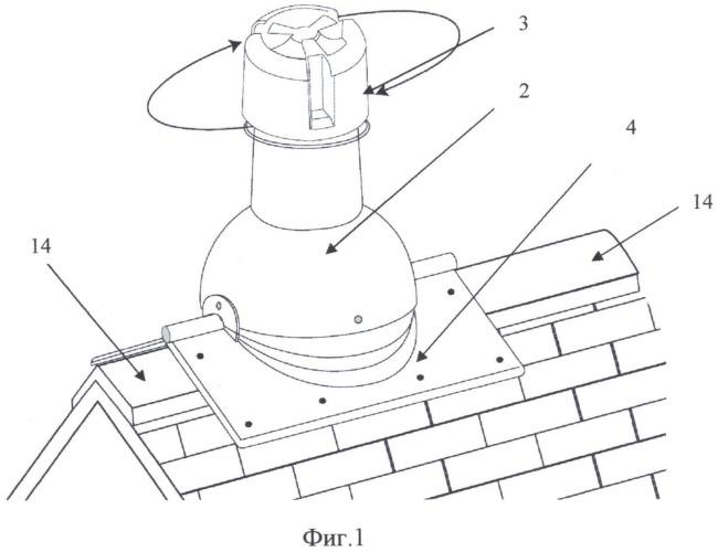 Коньковое вентиляционное устройство