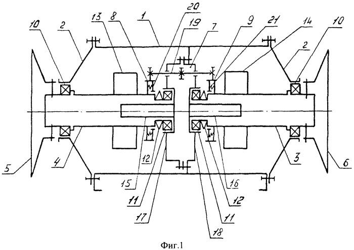 Система поворота двукрылых солнечных батарей