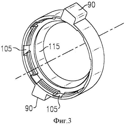 Устройство для отсоединения трубки от сборочного узла трубопровода и способ удаления уплотнения, охватывающего трубку, из корпуса такого устройства