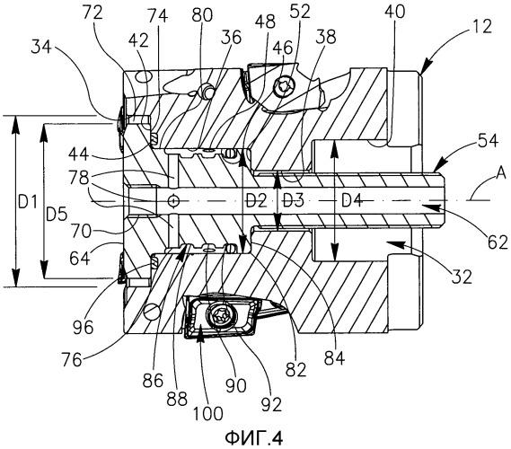 Вращающийся режущий инструмент с регулируемым механизмом охлаждения