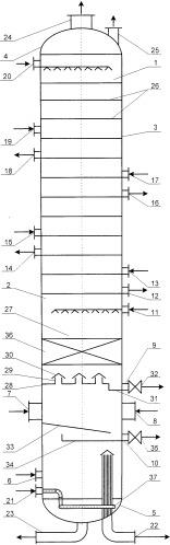 Ректификационная колонна для установки замедленного коксования