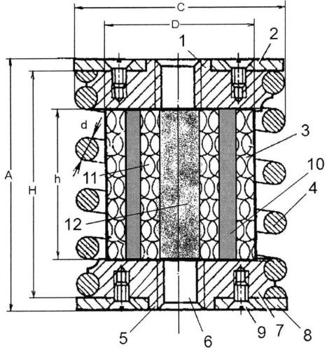 Упругий элемент сетчатого виброизолятора кочетова