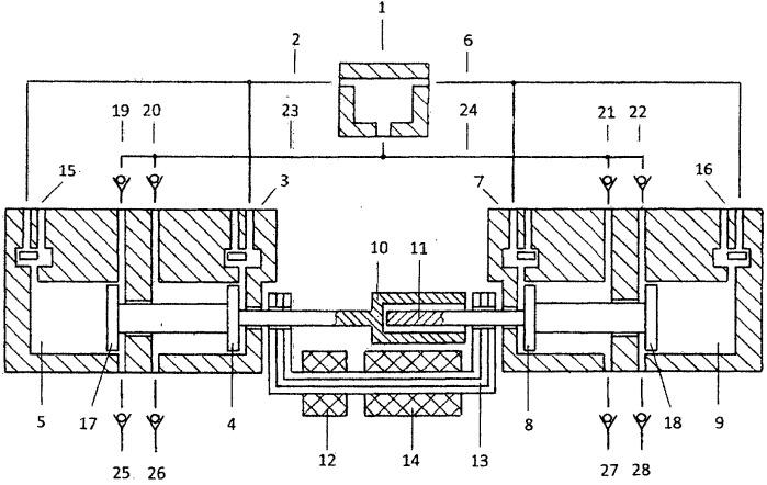 Способ предотвращения газораспределительными клапанами ударов поршневых групп о торцы цилиндров двухцилиндрового свободнопоршневого с внешней камерой сгорания энергомодуля