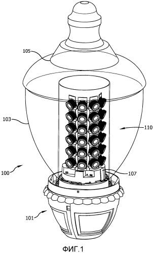 Малобликующий светодиодный осветительный модуль