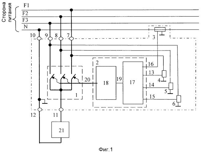 Способ симметрирования фазных токов трехфазной четырехпроводной линии и устройство для его осуществления