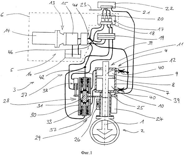 Сервопривод трубопроводной арматуры, приводимый в действие текучей средой