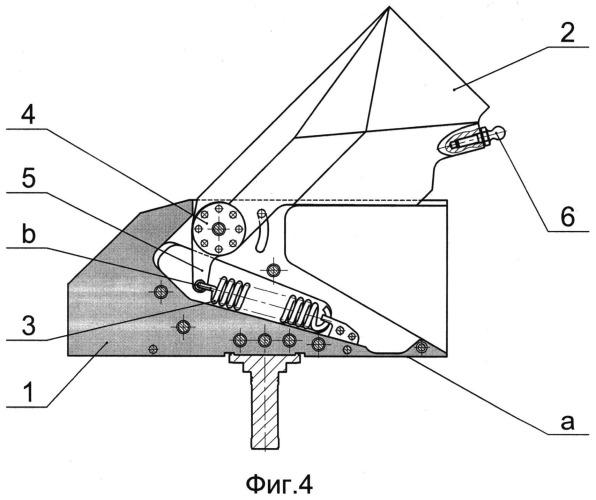 Складная рулевая поверхность авиационного средства поражения с пружинным механизмом раскладывания