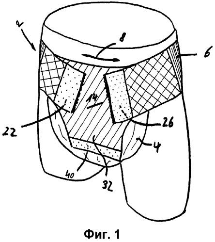 Фиксирующее и несущее устройство для одноразовой адсорбирующей используемой при недержании прокладки