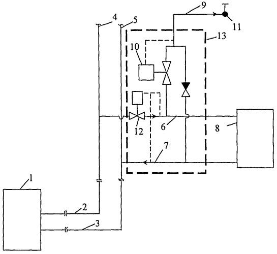 Способ работы открытой двухтрубной системы теплоснабжения
