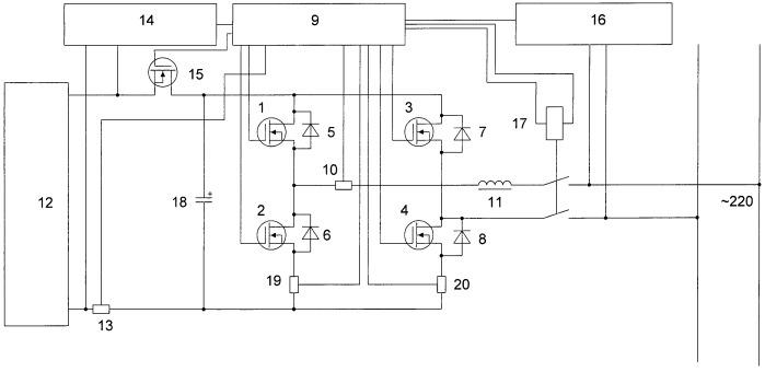 Рекуператор электроэнергии для преобразователей частоты со звеном постоянного тока