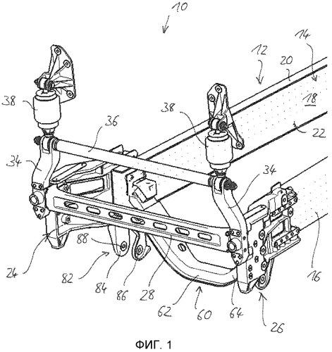 Шасси грузового автомобиля бескапотной компоновки с откидной кабиной