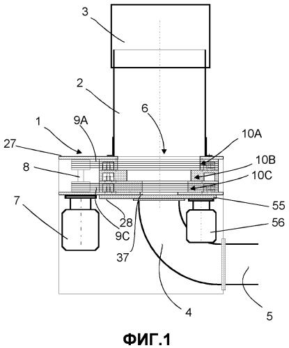 Способ и устройство для обработки материала в пневматической системе обработки и транспортировки материалов