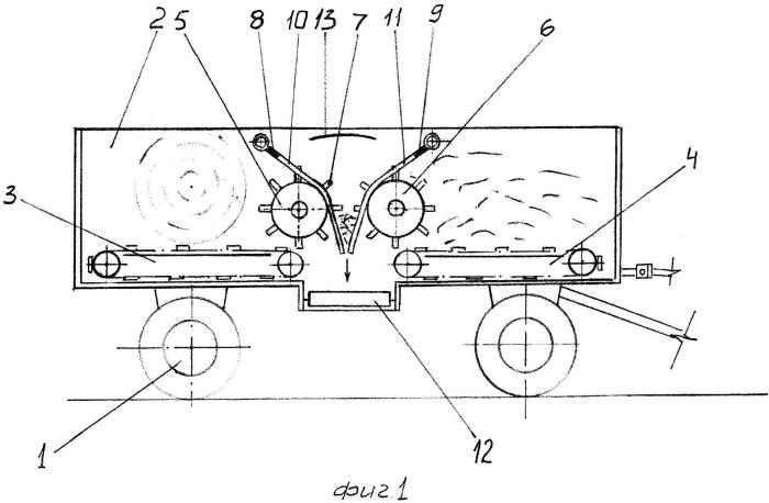 Мобильный раздатчик-измельчитель стебельчатых кормов