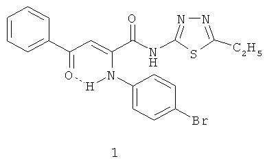 2-(5-этил-1,3,4-тиадиазолил)амид 2-(4-бромфенил)-4-оксо-4-фенил-2-бутеновой кислоты, обладающий анальгетической активностью