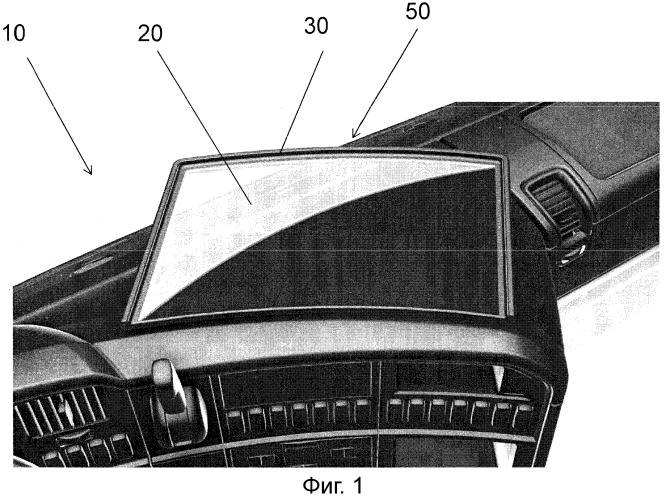 Приборная панель и опорный блок, предназначенный для нее