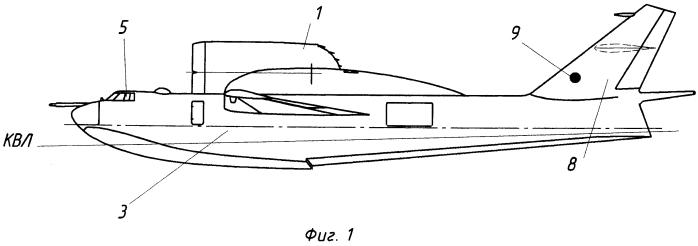 Гидросамолет вертикального взлета и посадки и устройство для отклонения вектора тяги двигателей