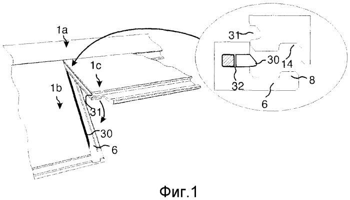 Система механической фиксации панелей для пола